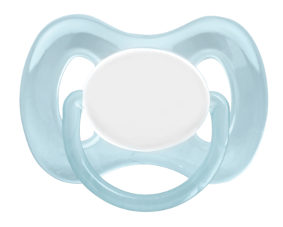 Oval Pacifier Silicone 6m Blue